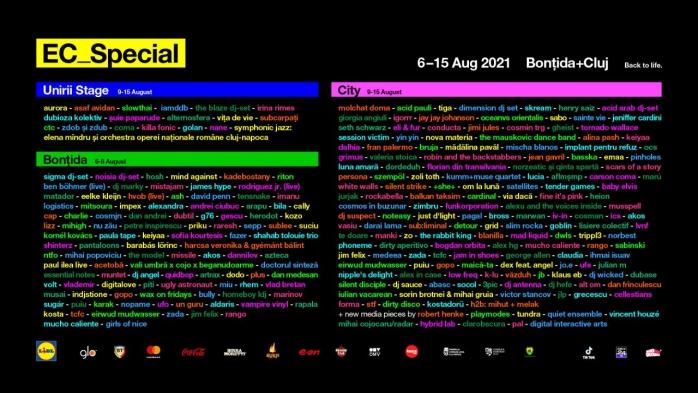 250 de artiști din 23 de țări vin la EC_Special pentru 10 zile de festival. LISTA cu TOȚI artiștii