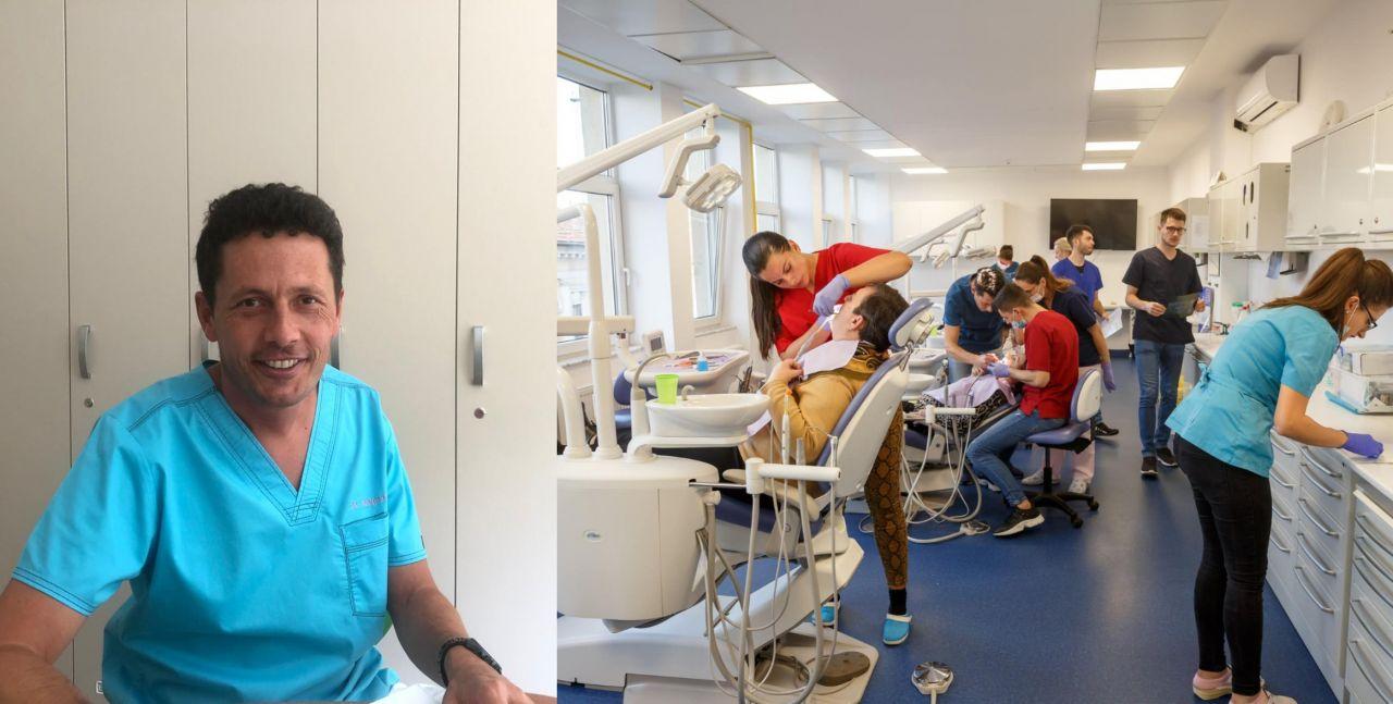 Sute de clujeni defavorizați, tratați GRATUIT de medici stomatologi cu suflet mare ai UMF