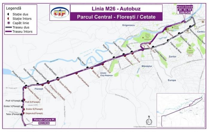 Ruta autobuzului M26 a fost schimbată. Vezi noul traseu
