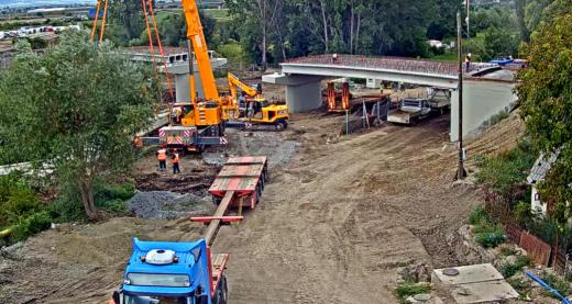 VIDEO. Lucrările la podul peste Arieș, în Turda, transmise LIVE. Când va fi reluată circulația?