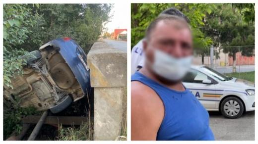 Întâmplare bizară la Dej. Un bărbat beat și fără permis a făcut accident cu mașina firmei. Motivul: a rămas fără țigări.