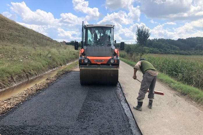 Au fost finalizate lucrările de întreținere pe DJ 161B Călărași – Călărași Gară