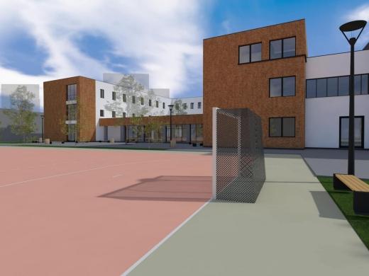 """Școala """"Nicolae Iorga"""" intră în modernizare. Elevii vor avea sală de sport de mărimea unui teren de handbal."""