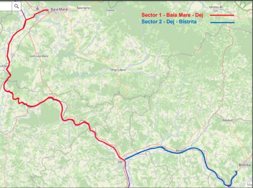 Licitație relansată pentru Autostrada Nordului, care va funcționa și ca centură ocolitoare pentru Dej