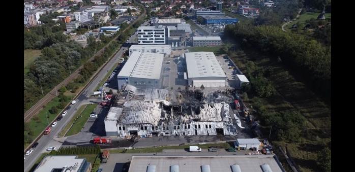 VIDEO. Cum arată hala distrusă de INCENDIUL de la Tetarom. Imagini surprinse cu drona.