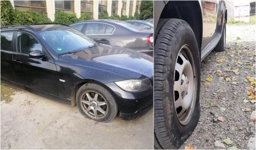 36 de mașini parcate în Mărăști au cauciucurile TĂIATE. Polițiștii caută vinovatul
